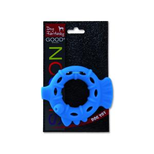 Hračka DOG FANTASY silikonový kroužek světle modrý 10 cm 1ks
