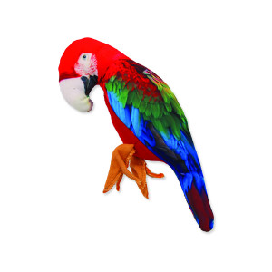 Hračka DOG FANTASY textilní papoušek 28 cm 1ks