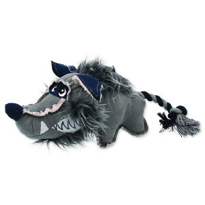 Hračka DOG FANTASY textilní vlk 40 cm 1ks