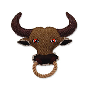 Hračka DOG FANTASY textilní kráva 28 cm 1ks