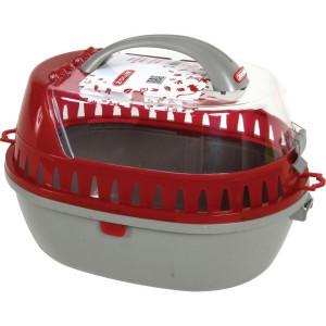 Přepravka pro hlodavce šedá/červená M 25x36x26 cm Zolux