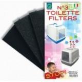 Náhradní filtr k WC pro kočky 3 ks ARGI