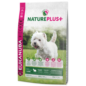 EUKANUBA Nature Plus+ Adult Small Breed Rich in freshly frozen Lamb 10kg