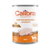Calibra Dog konzerva Adult krůta a kuřecí srdíčka 400 g
