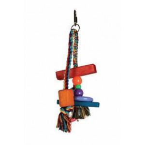 Hračka pro ptáky dřevěná T1 24 cm Zolux