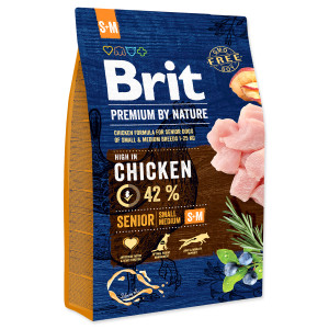 BRIT Premium by Nature Senior S+M 3kg