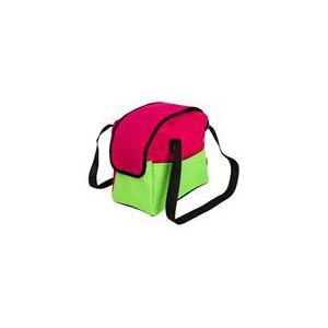 """Transp.Taška nylon""""Boseň Lux""""malinová/zelená 30 cm"""