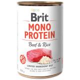 Konzerva BRIT Mono Protein Beef & Brown Rice