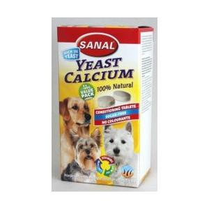 Sanal pes YEAST CALCIUM kalciové tablety 400 tbl/4x100 g