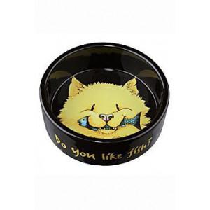 Miska keramická kočka s rybou 0,3l 12 cm TR
