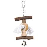 Hračka TRIXIE Living Toy provaz / zvoneček 20 cm 1ks
