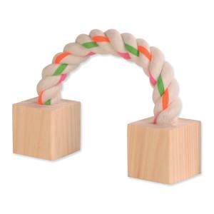 Hračka TRIXIE lano s kostkami 20 cm 1ks