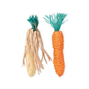Hračka TRIXIE mrkev, kukuřice 15 cm 1ks