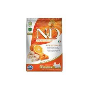 N&D GF Pumpkin DOG Adult Mini Codfish & Orange 7 kg