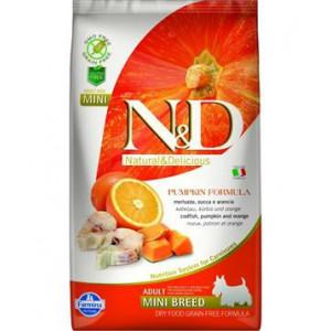 N&D GF Pumpkin DOG Adult Mini Codfish & Orange 800 g