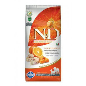 N&D GF Pumpkin DOG Adult M/L Codfish & Orange 12 kg (DOPRAVA ZDARMA) + doprava zdarma