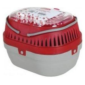 Přepravka pro hlodavce S šedá/červená 17x23x16 cm Zolux