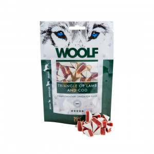 WOOLF pochoutka Lamb and Cod Triangle 100 g