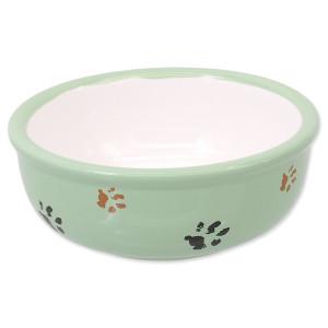 Miska MAGIC CAT keramická kočicí tlapka zelená 13 cm 0,33l