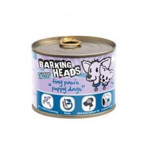 BARKING HEADS Tiny Paws Puppy Days Salmon konz. 200 g