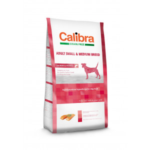 Calibra Dog GF Adult Medium & Small Salmon 12 kg NEW + dárek ZDARMA + doprava zdarma