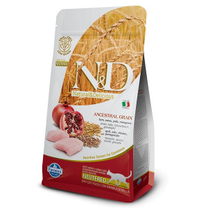 N&D LG CAT Neutered Chicken & Pomegranate 5 kg