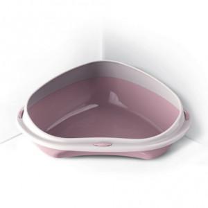 Wc kočka rohové s okrajem Růžová 49x40x17,5 cm ARGI