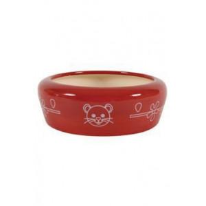 Miska keramická kočka 350 ml červená Zolux