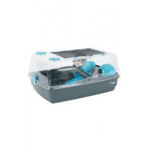 Klec křeček INDOOR 55 cm Vision 360 modrá/šedá Zolux